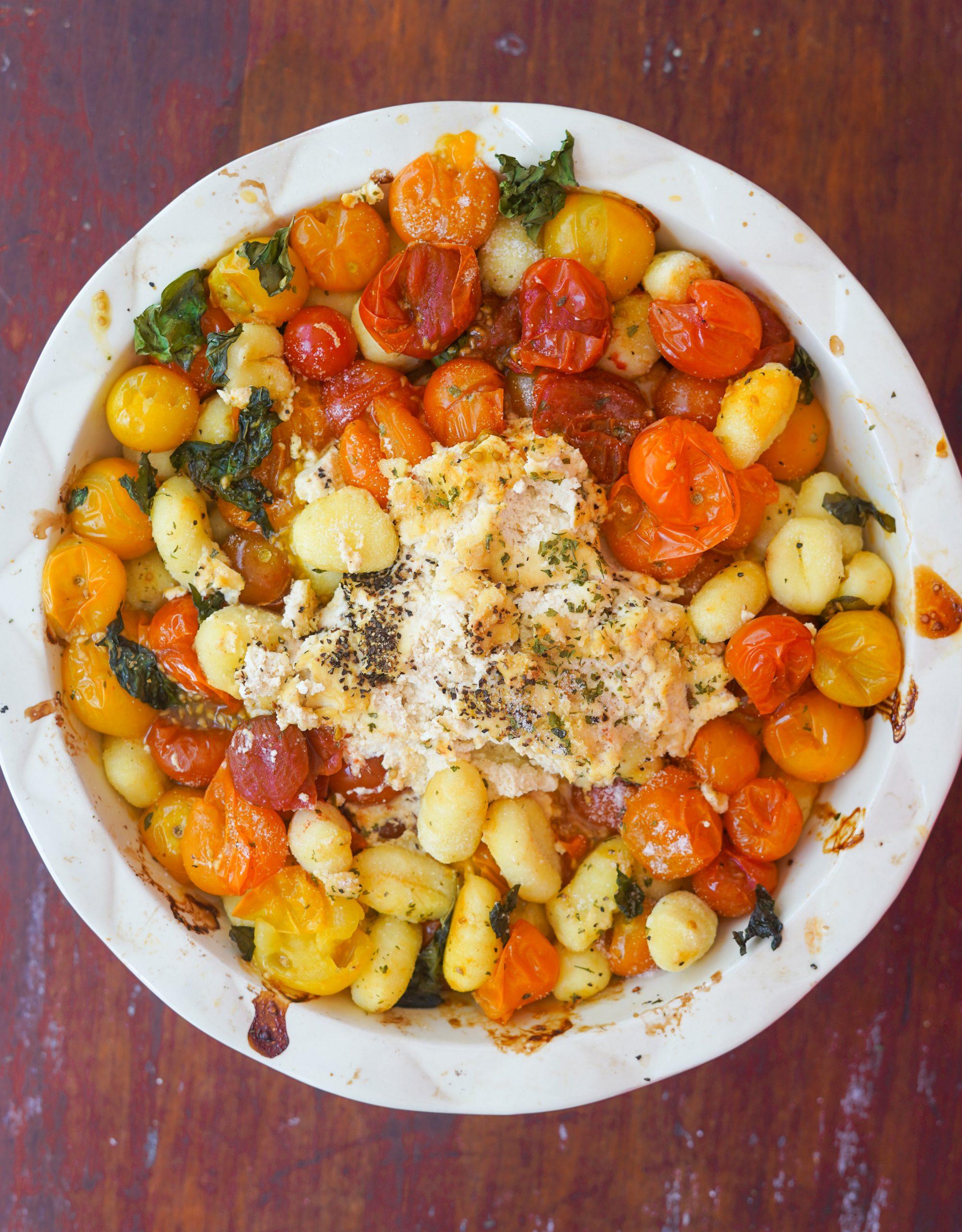 Vegan Baked Feta Gnocchi